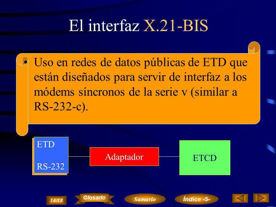 El interfaz X.21-BIS