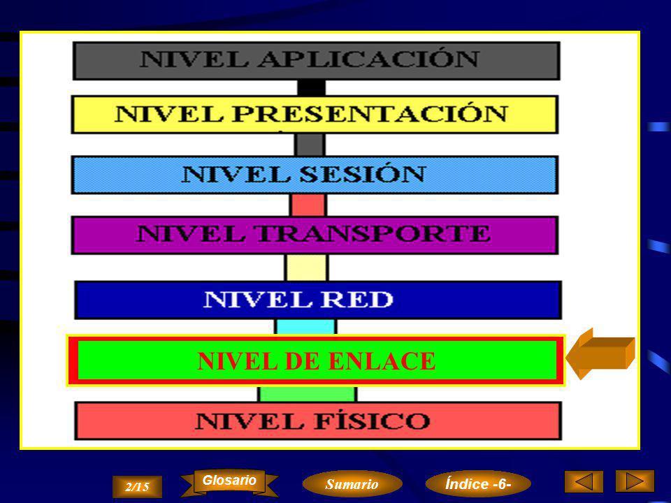 NIVEL DE ENLACE Glosario Sumario Índice -6- 2/15