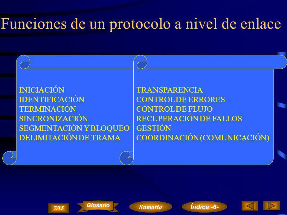 Funciones de un protocolo a nivel de enlace