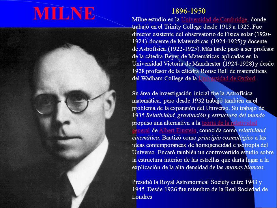 MILNE 1896-1950.