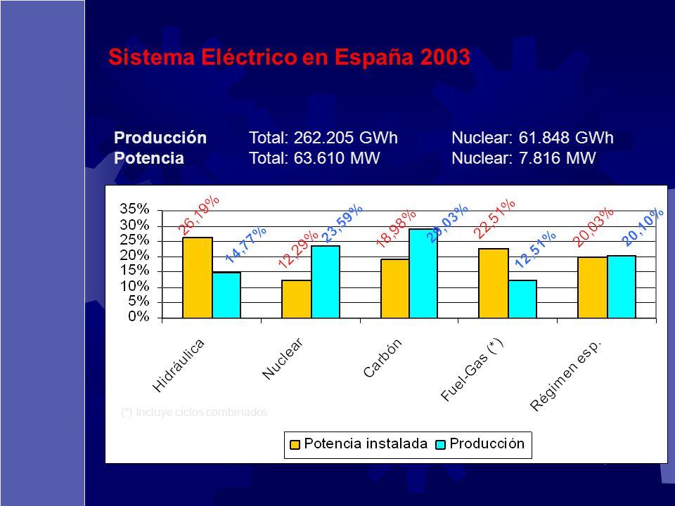 Sistema Eléctrico en España 2003