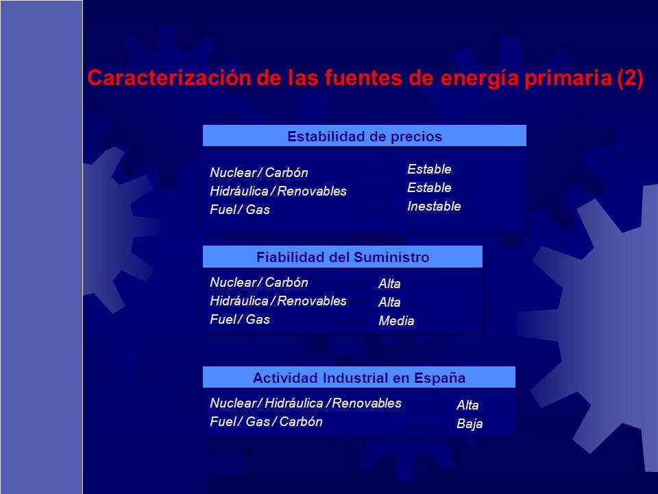 Caracterización de las fuentes de energía primaria (2)