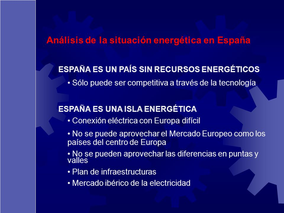 Análisis de la situación energética en España