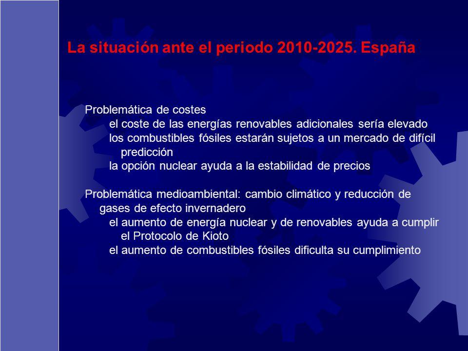 La situación ante el periodo 2010-2025. España