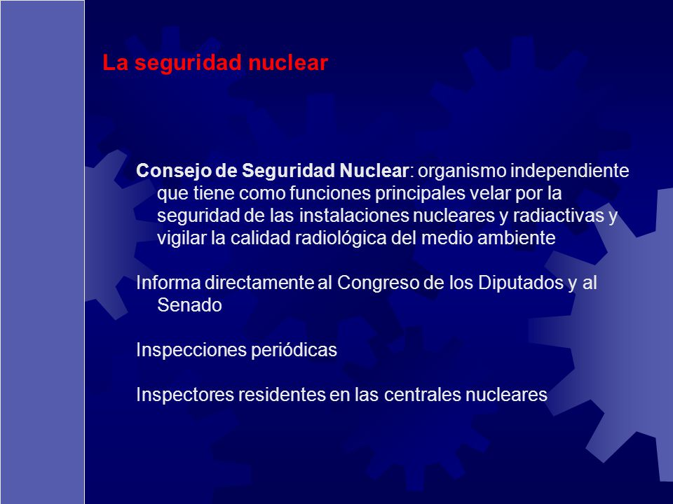 La seguridad nuclear