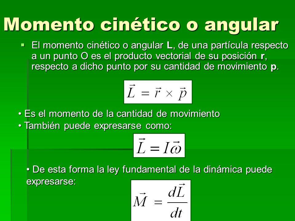 Momento cinético o angular