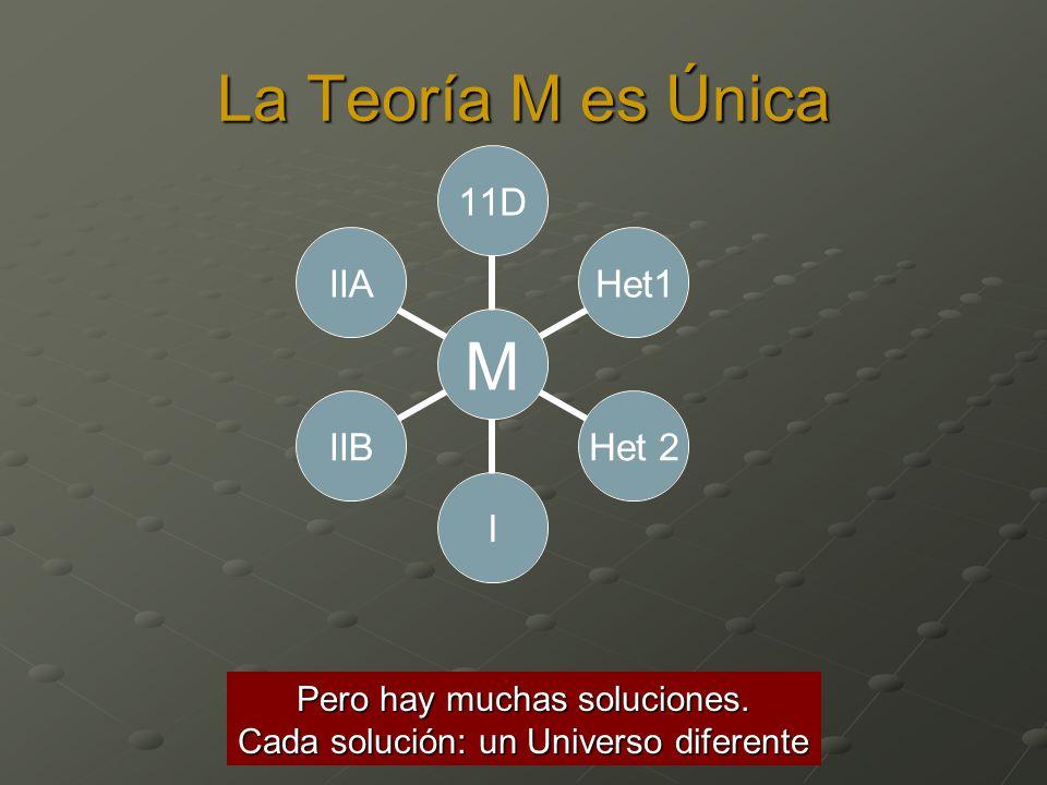 La Teoría M es Única Pero hay muchas soluciones.
