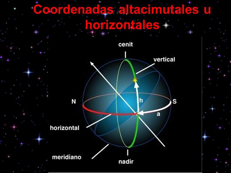 Coordenadas altacimutales u horizontales