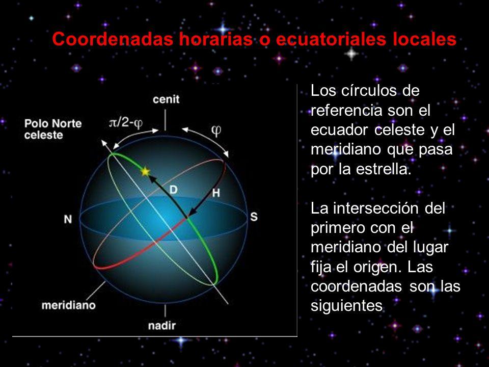 Coordenadas horarias o ecuatoriales locales