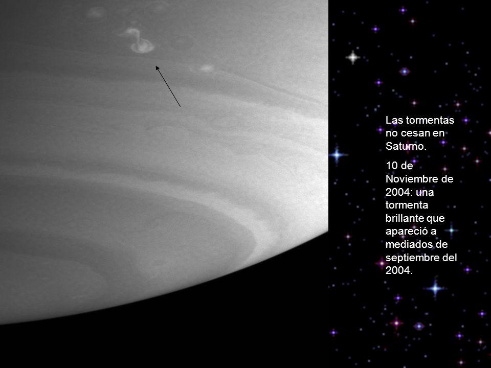 Las tormentas no cesan en Saturno.