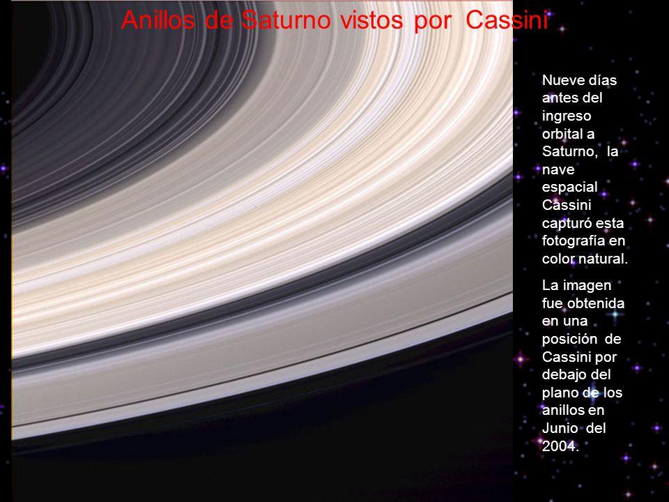Anillos de Saturno vistos por Cassini
