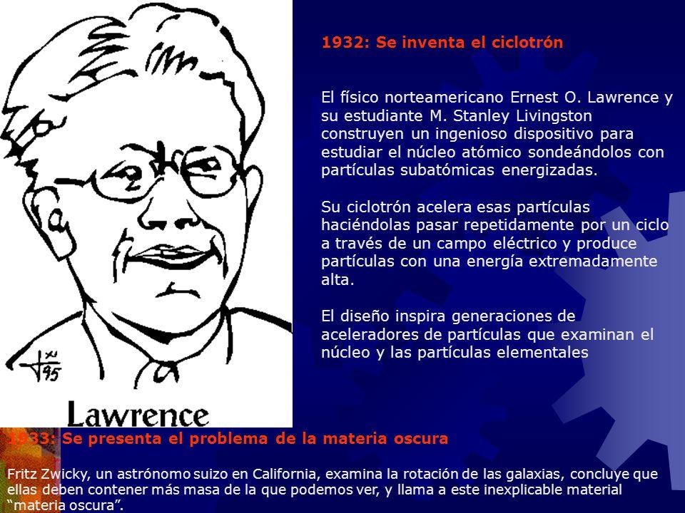 1932: Se inventa el ciclotrón