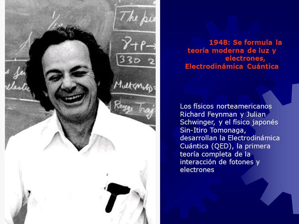 1948: Se formula la teoría moderna de luz y