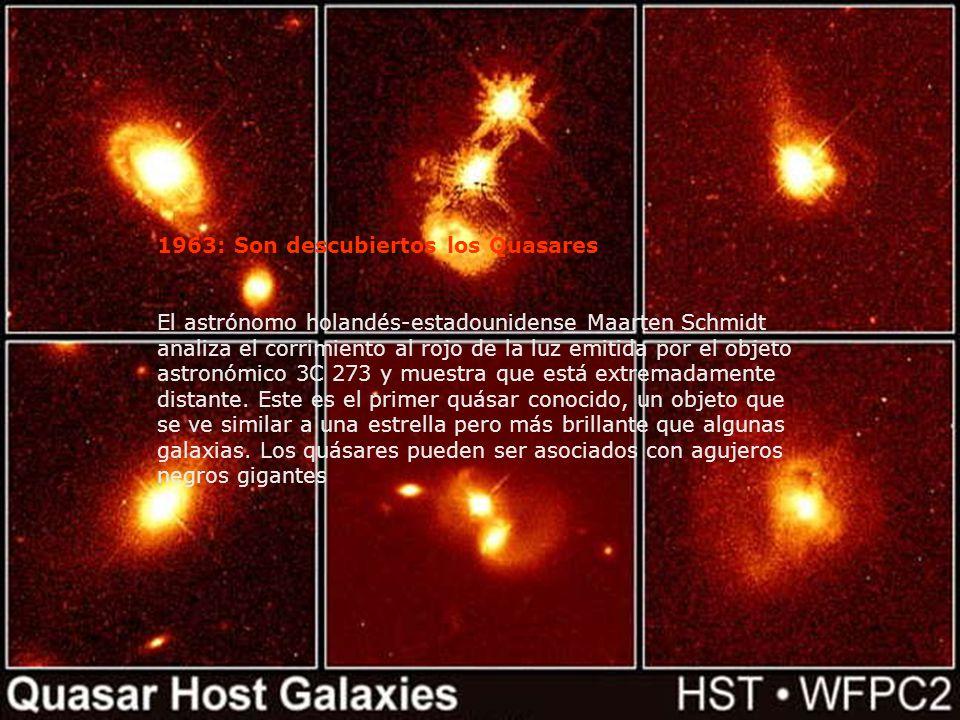 1963: Son descubiertos los Quasares