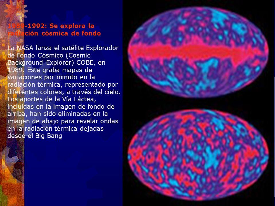 1989-1992: Se explora la radiación cósmica de fondo