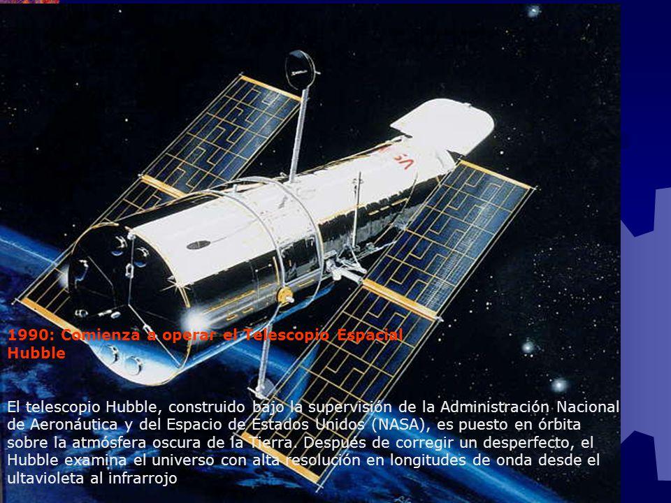 1990: Comienza a operar el Telescopio Espacial