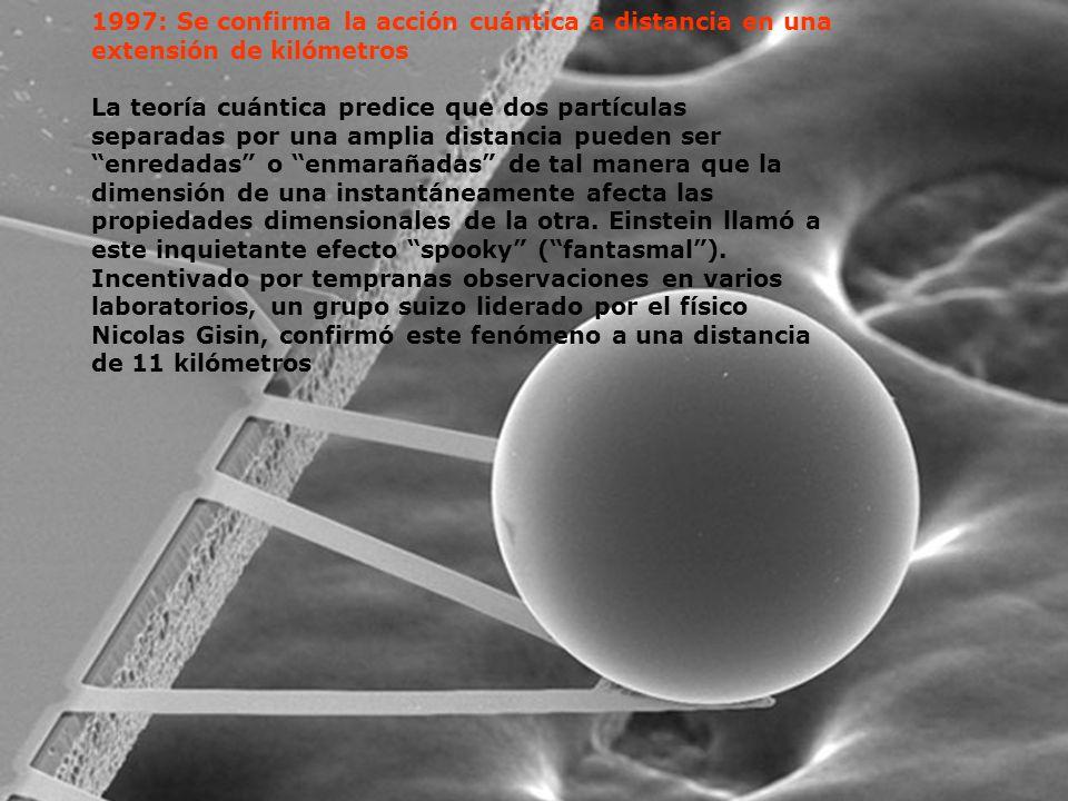 1997: Se confirma la acción cuántica a distancia en una extensión de kilómetros