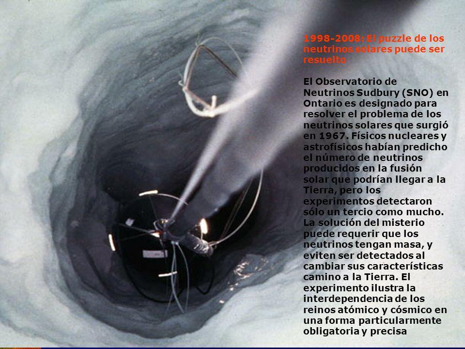 1998-2008: El puzzle de los neutrinos solares puede ser resuelto