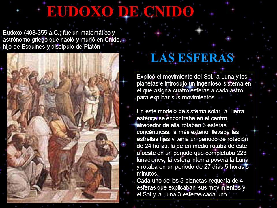 EUDOXO DE CNIDO LAS ESFERAS
