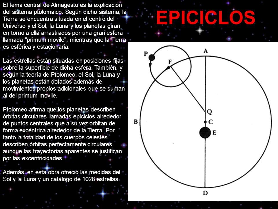 El tema central de Almagesto es la explicación del sistema ptolomaico