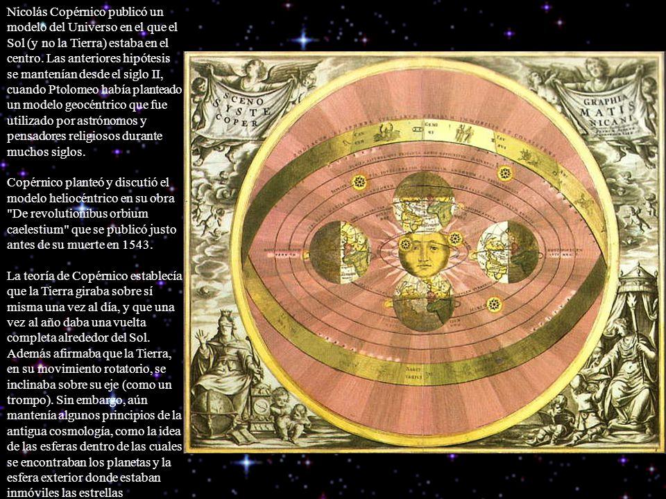 Nicolás Copérnico publicó un modelo del Universo en el que el Sol (y no la Tierra) estaba en el centro.