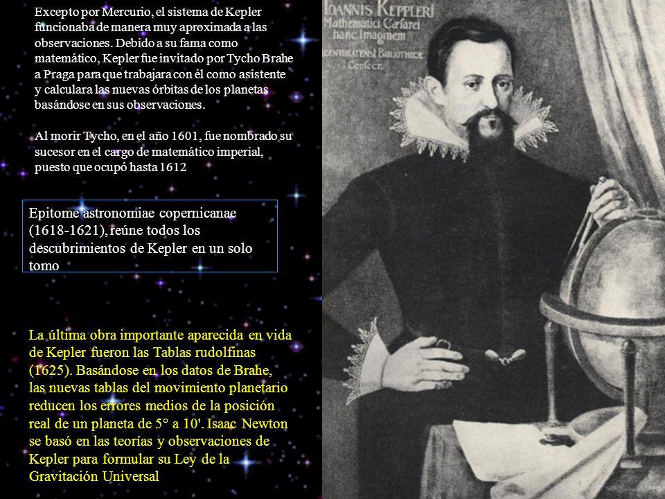 Excepto por Mercurio, el sistema de Kepler funcionaba de manera muy aproximada a las observaciones. Debido a su fama como matemático, Kepler fue invitado por Tycho Brahe a Praga para que trabajara con él como asistente y calculara las nuevas órbitas de los planetas basándose en sus observaciones.