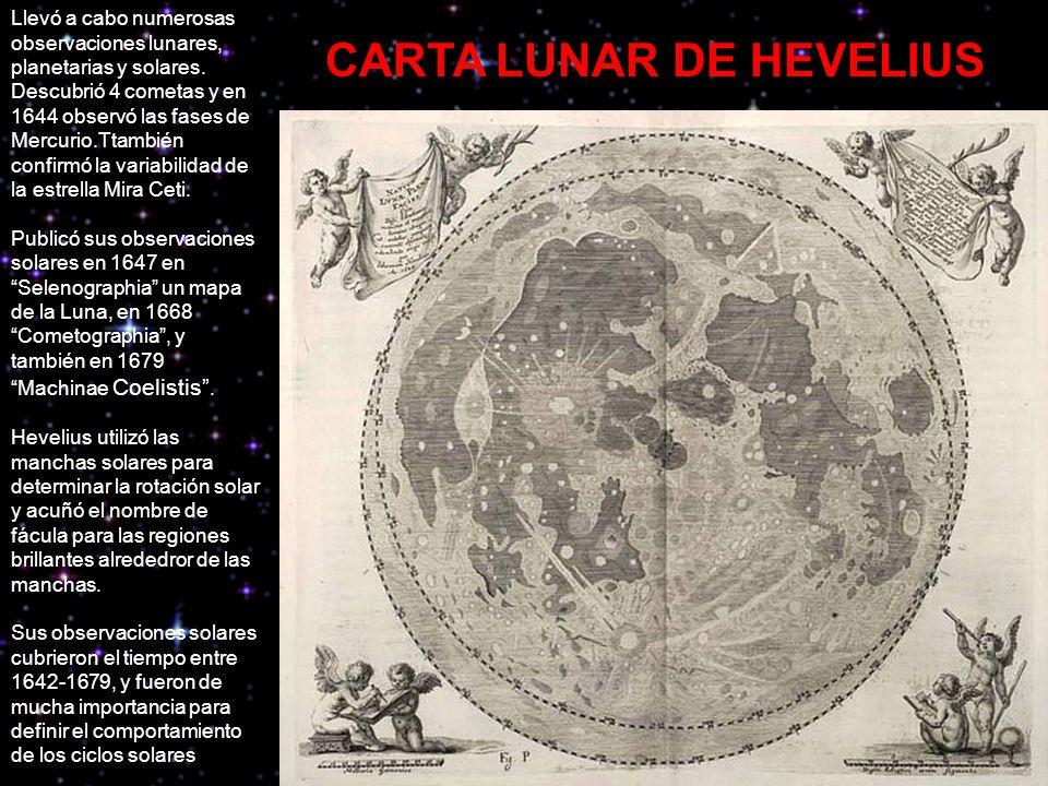 CARTA LUNAR DE HEVELIUS