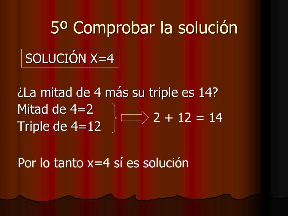 5º Comprobar la solución