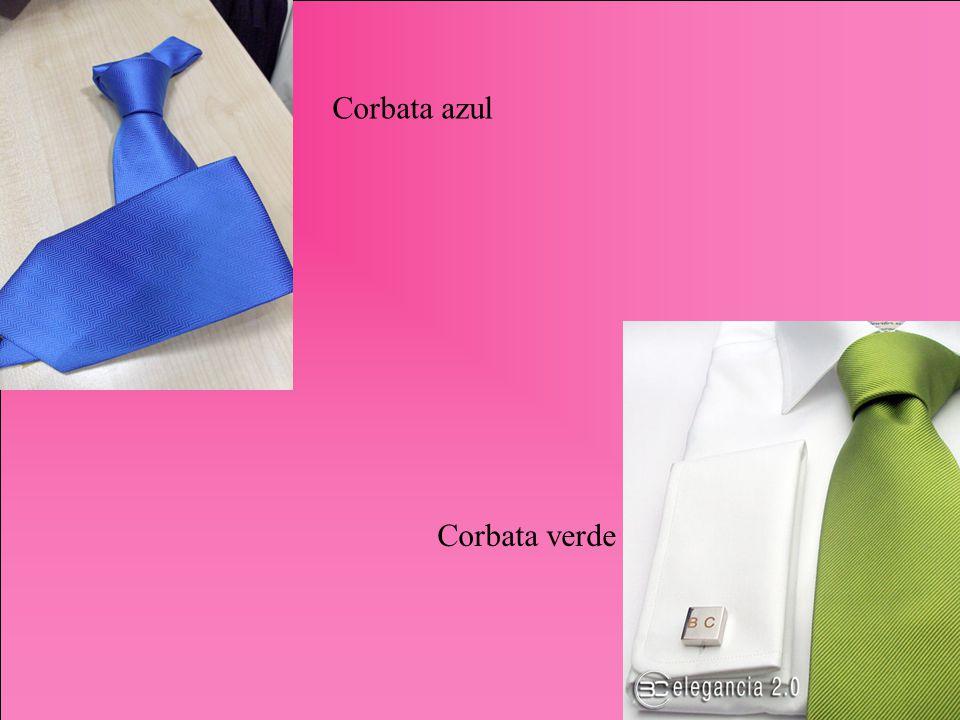 Corbata azul Corbata verde