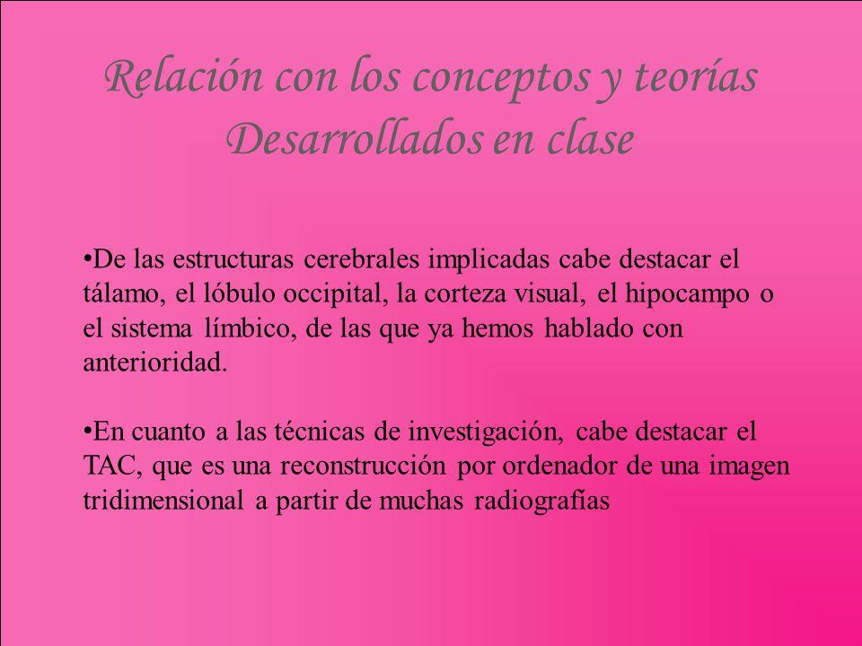 Relación con los conceptos y teorías Desarrollados en clase