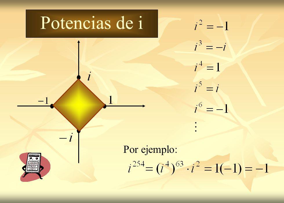 Potencias de i Por ejemplo: