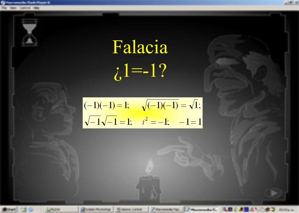 Falacia ¿1=-1