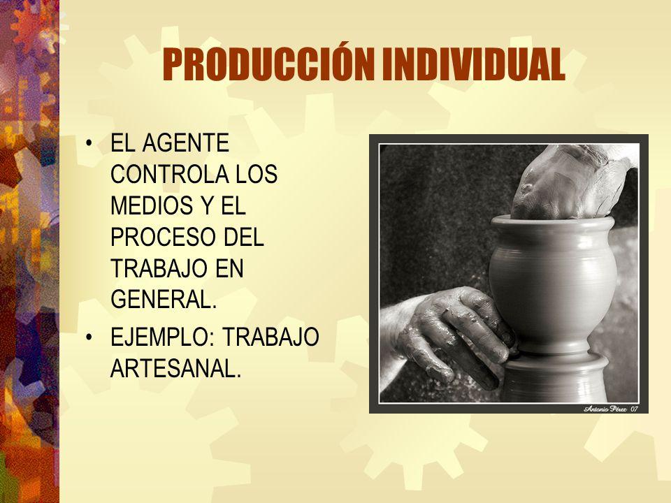 PRODUCCIÓN INDIVIDUAL