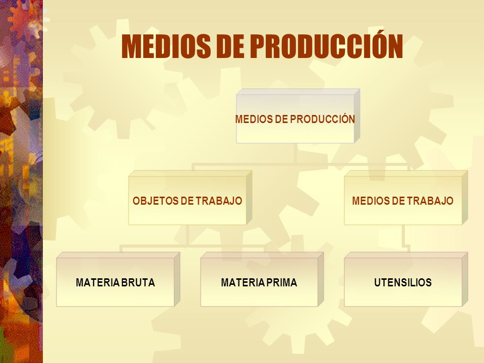 MEDIOS DE PRODUCCIÓN