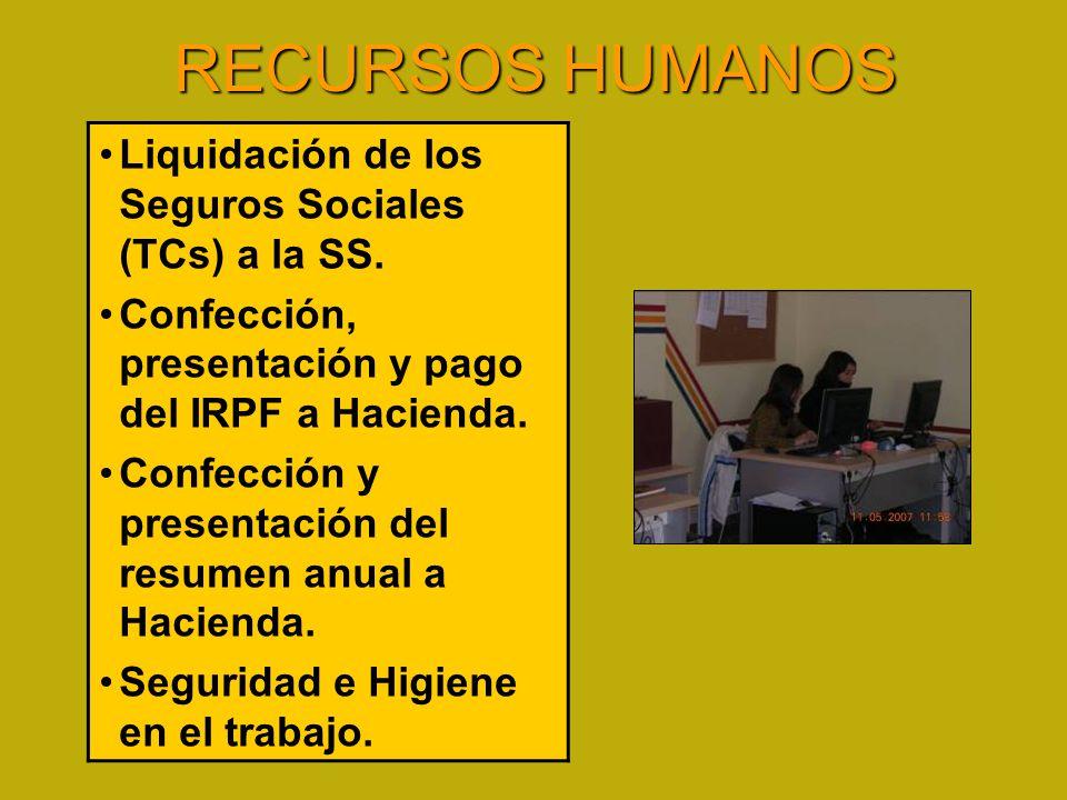 RECURSOS HUMANOS Liquidación de los Seguros Sociales (TCs) a la SS.