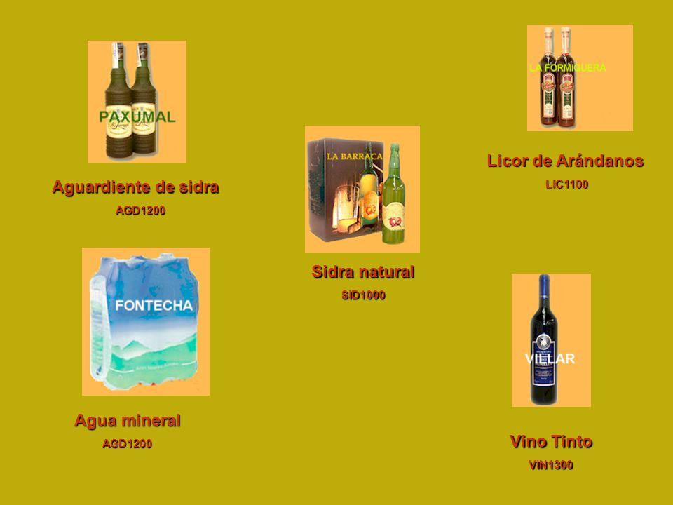 Sidra natural Agua mineral Vino Tinto
