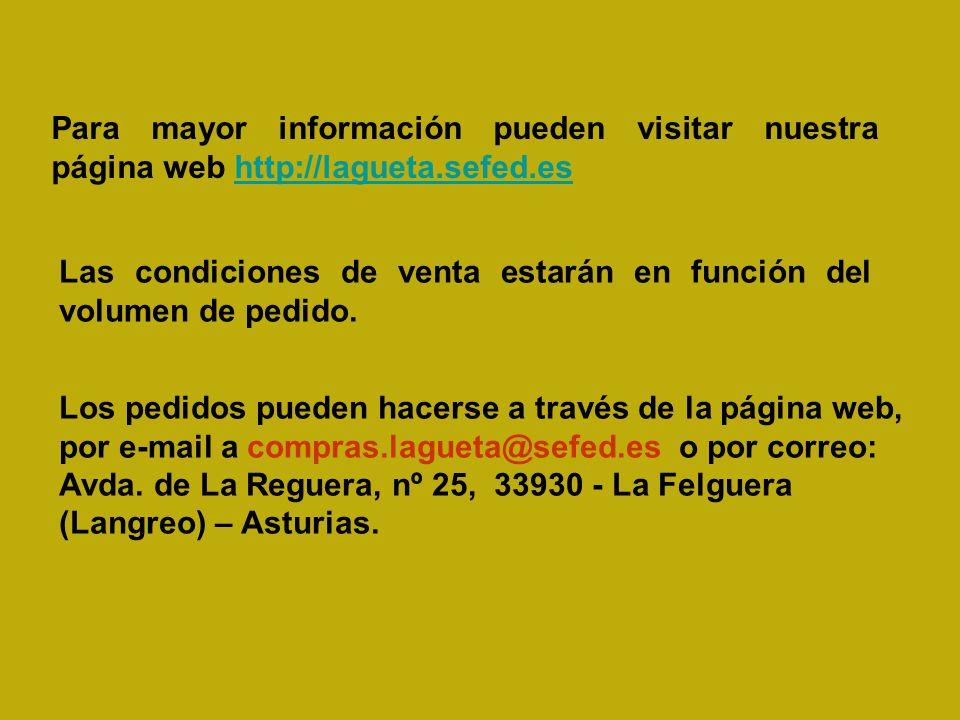 Para mayor información pueden visitar nuestra página web http://lagueta.sefed.es