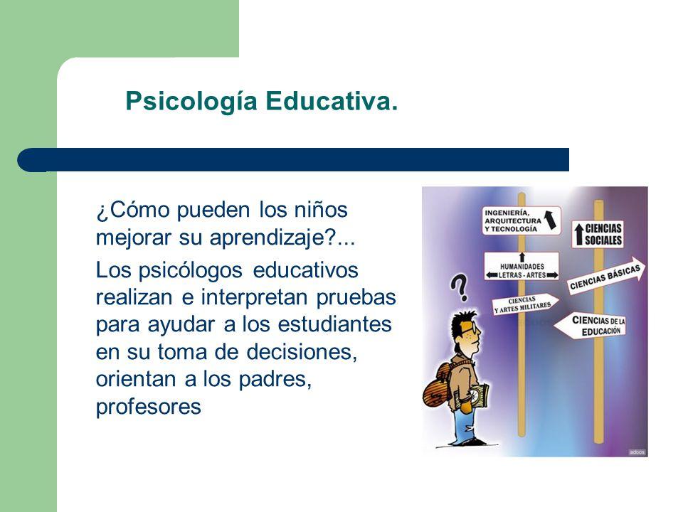 Psicología Educativa. ¿Cómo pueden los niños mejorar su aprendizaje ...