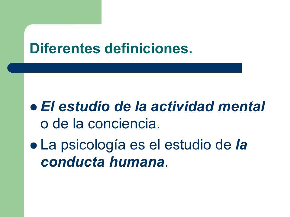Diferentes definiciones.