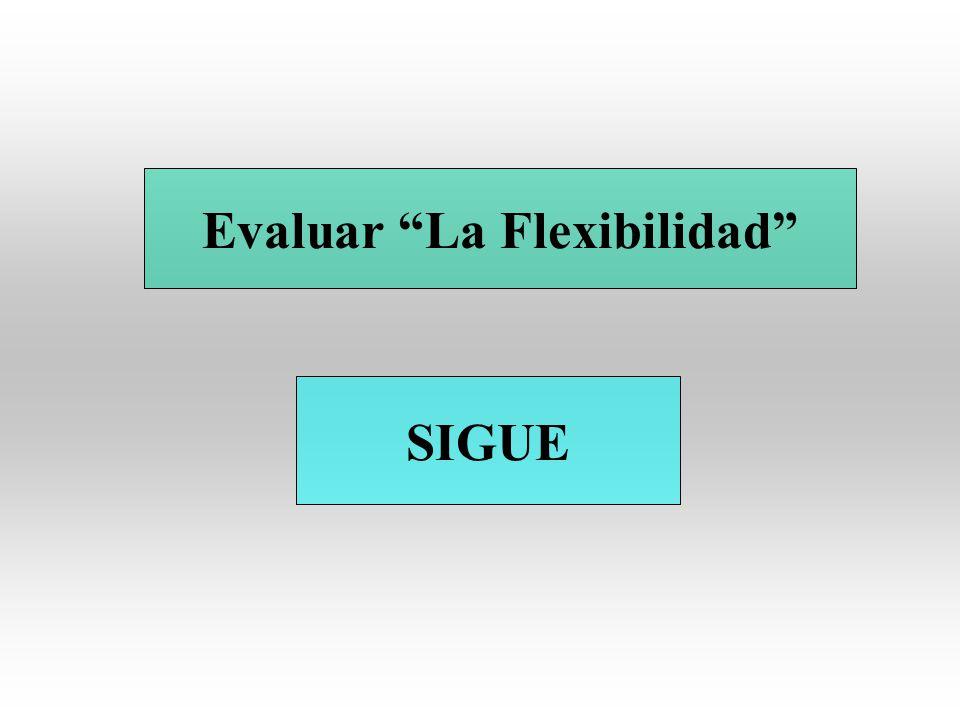 Evaluar La Flexibilidad