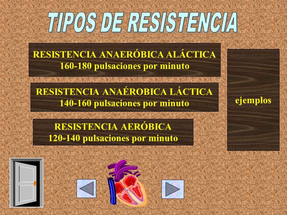 TIPOS DE RESISTENCIA RESISTENCIA ANAERÓBICA ALÁCTICA