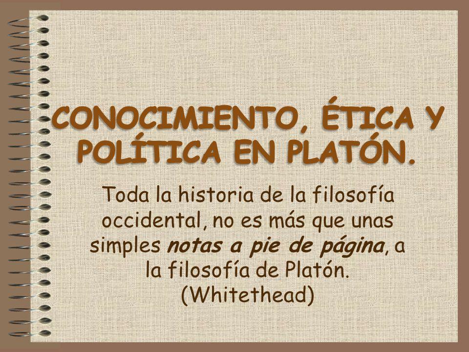 CONOCIMIENTO, ÉTICA Y POLÍTICA EN PLATÓN.