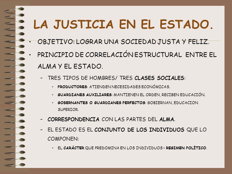 LA JUSTICIA EN EL ESTADO.