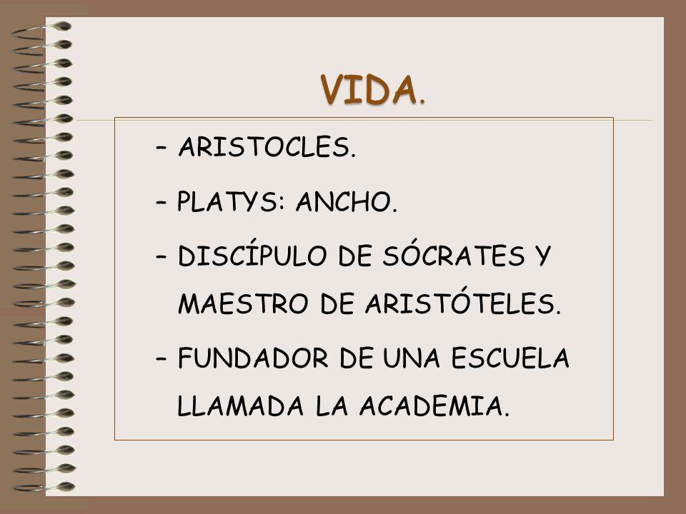 VIDA. ARISTOCLES. PLATYS: ANCHO.