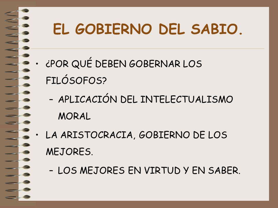 EL GOBIERNO DEL SABIO. ¿POR QUÉ DEBEN GOBERNAR LOS FILÓSOFOS