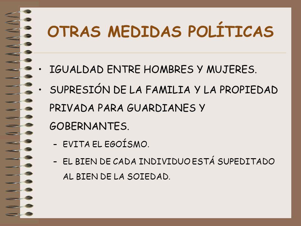 OTRAS MEDIDAS POLÍTICAS