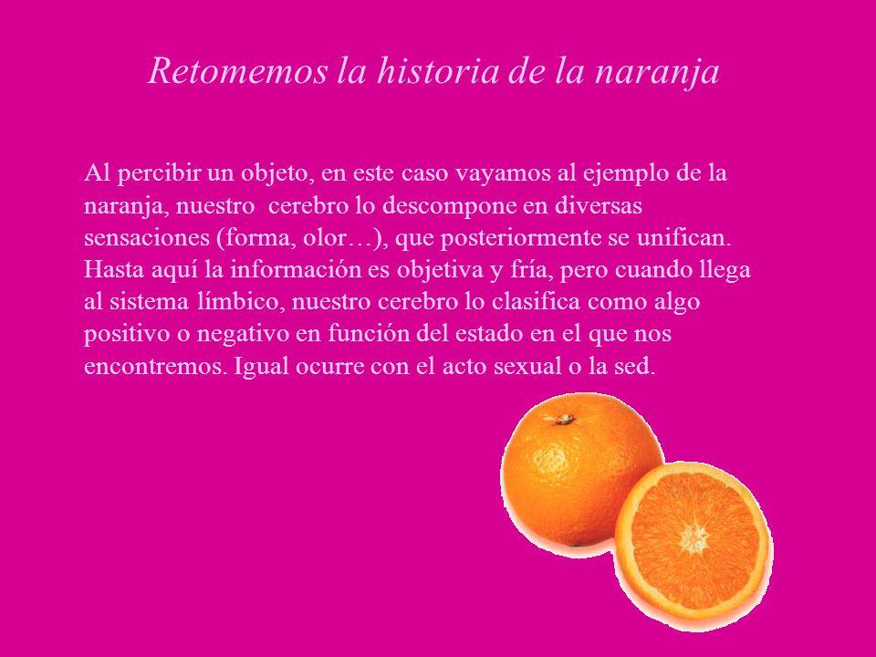 Retomemos la historia de la naranja