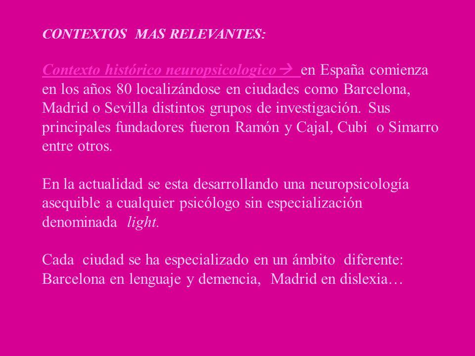 CONTEXTOS MAS RELEVANTES: