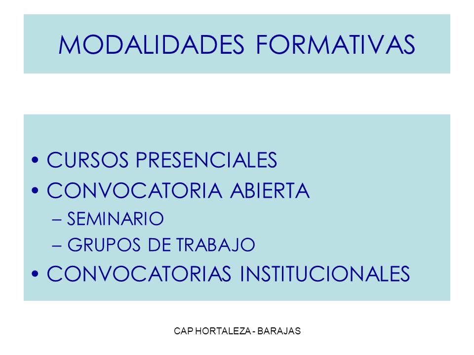 MODALIDADES FORMATIVAS