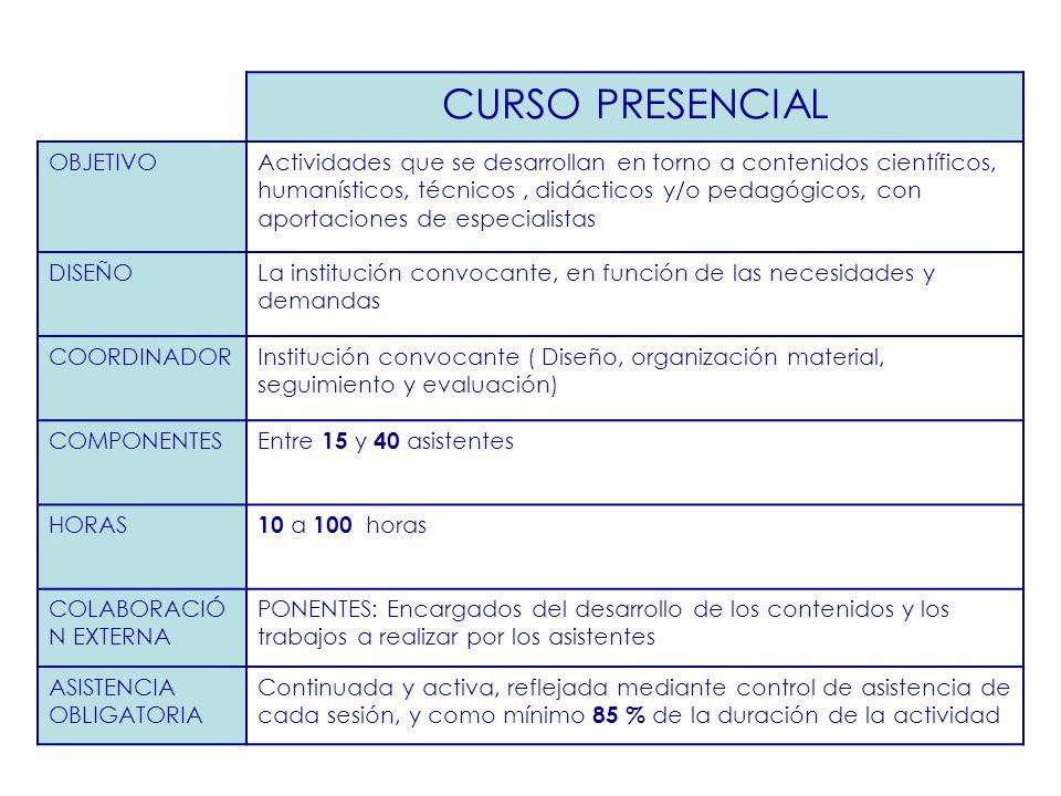 CURSO PRESENCIAL OBJETIVO